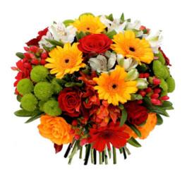 Bouquet rond en réserve d'eau2