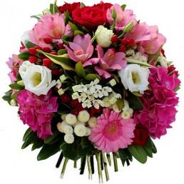 Bouquet rond en réserve d'eau